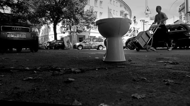 路上のトイレ