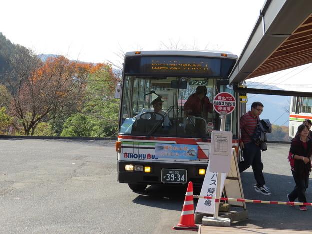 中腹へのシャトルバス