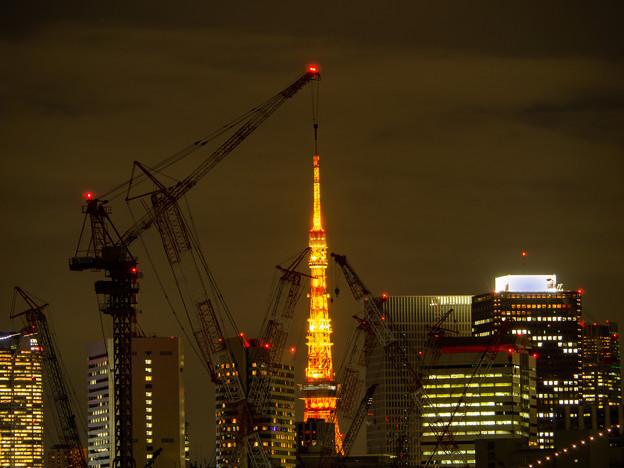 東京タワー建設中