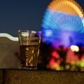 写真: ビールと観覧車