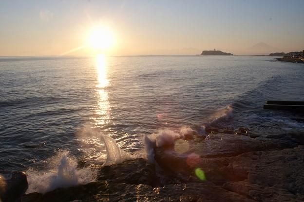 稲村ヶ崎の夕陽