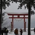 Photos: 御座石神社から田沢湖を望む