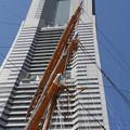 Photos: 日本丸と誇浜キャノン(ランドっマークタワー)
