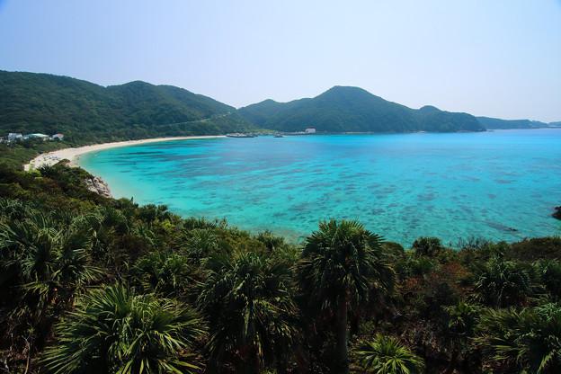 阿波連ビーチ~クバンダキ展望台から(2019/10/05 渡嘉敷島)