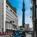 東京スカイツリーとジャパンタクシー