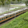 Photos: 緑の茂み越しに見えた電車