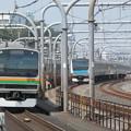 南北に東京を貫く電車…赤羽駅ホーム(1)