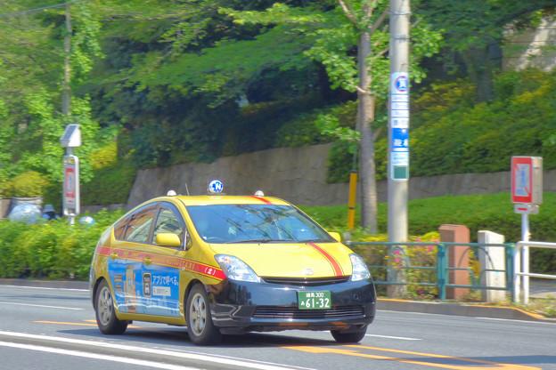 Photos: 飛鳥山を走るプリウスタクシー