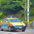 飛鳥山を走るプリウスタクシー