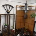 写真: 古民具と盆栽アート