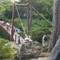 Photos: 吊り橋を渡る