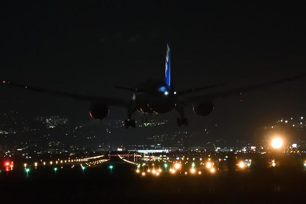 夜間の着陸