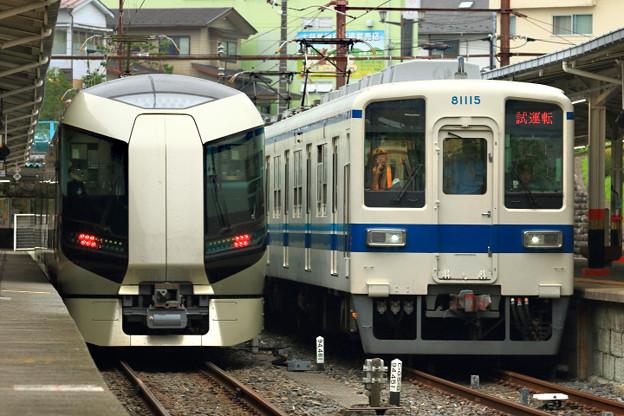 1011列車と7736列車