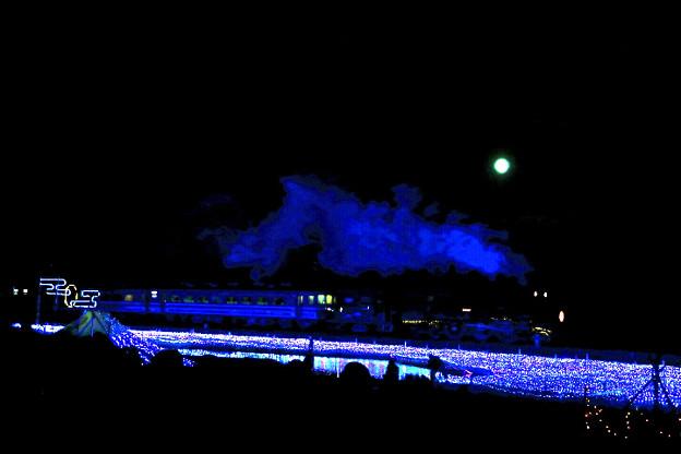 満月・SL大樹・イルミネーション