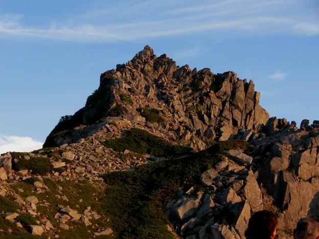 1-155 夕陽を浴びる宝剣岳
