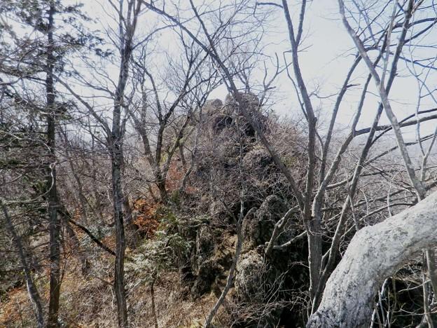 20 菊花山への岩稜