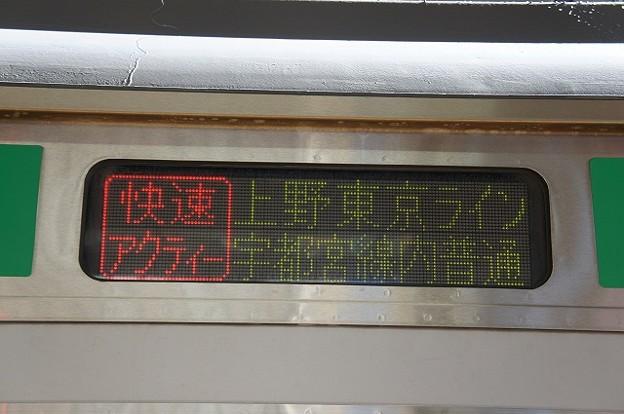 快速アクティー 上野東京ライン 宇都宮線内普通