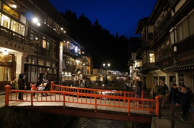 銀山温泉 夜景