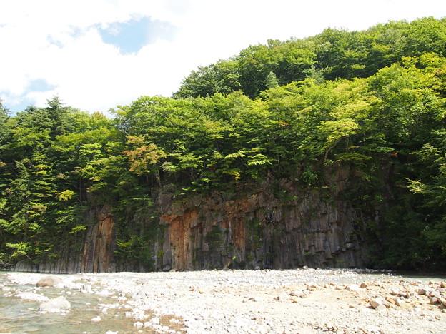 松川玄武岩渓谷