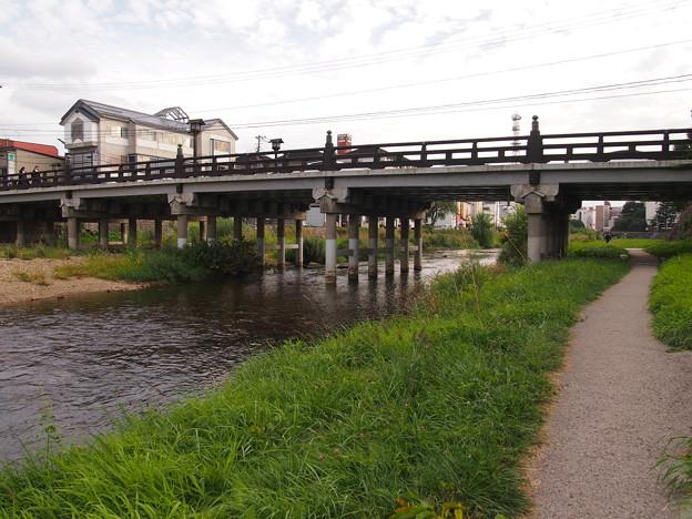 中津川にかかる橋 上の橋