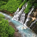 新緑の青い川♪