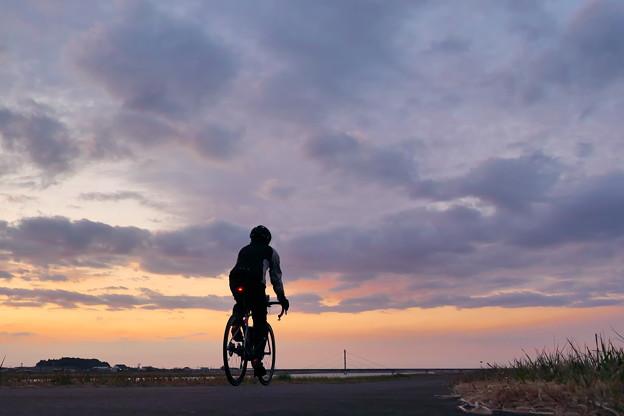 サイクリング夕景