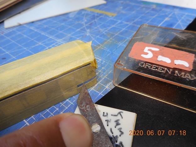 JR四国7000 上下色帯塗装マスキング 割り出し