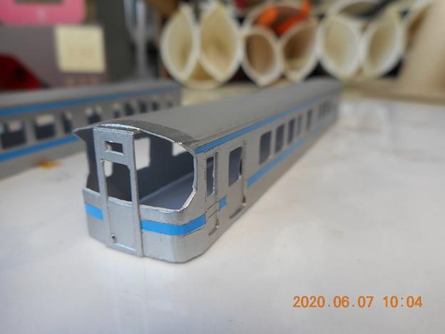 JR四国7000 上下色帯塗装 完了