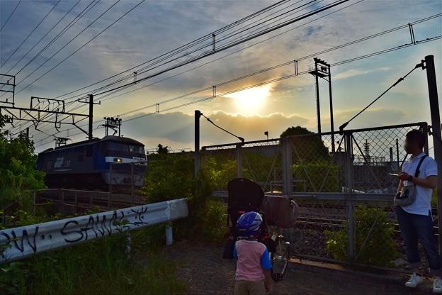 Photos: 夕暮れ鉄親子