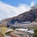 写真: 残雪の高尾山麓(4)