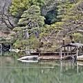 舟屋と臥龍石