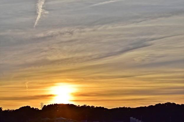 写真: 夕陽(180818)