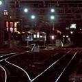 写真: 夜の引込線