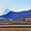 冬富士を行く