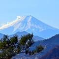 大月から富士山