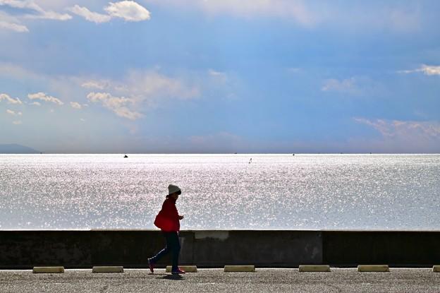 冬、七里ヶ浜