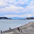 七里ヶ浜から富士山
