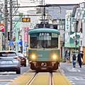 Photos: 電車道の二人
