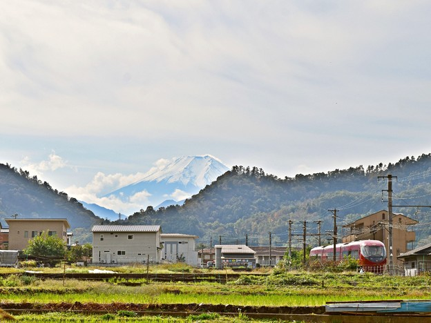 秋、富士山ビュー