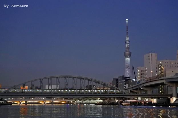 隅田川夕景