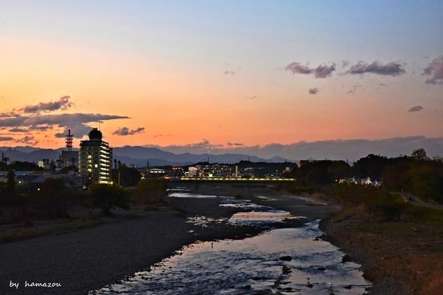 Photos: 浅川日暮れ