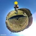 Photos: 地球に立つ時