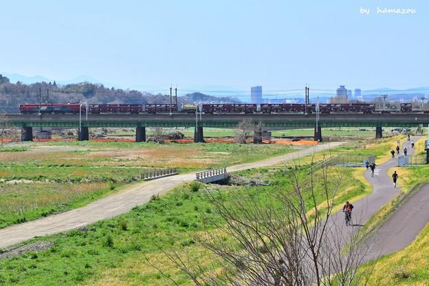 春、河川敷