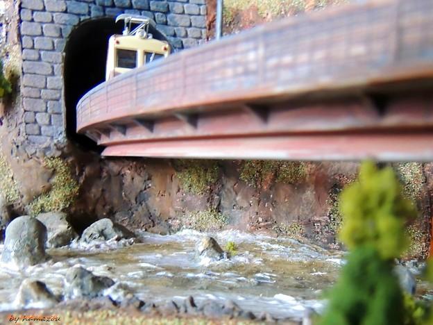 渓谷の鉄道