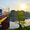 Photos: 朝陽の鉄橋