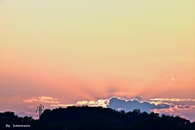 Photos: 落日の雲