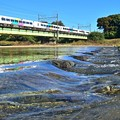Photos: 川面の秋空