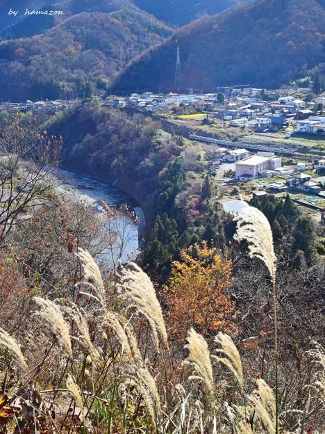 残秋の梓川