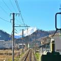 富士が見える鉄道