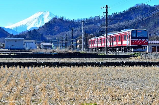 富士が見える沿線